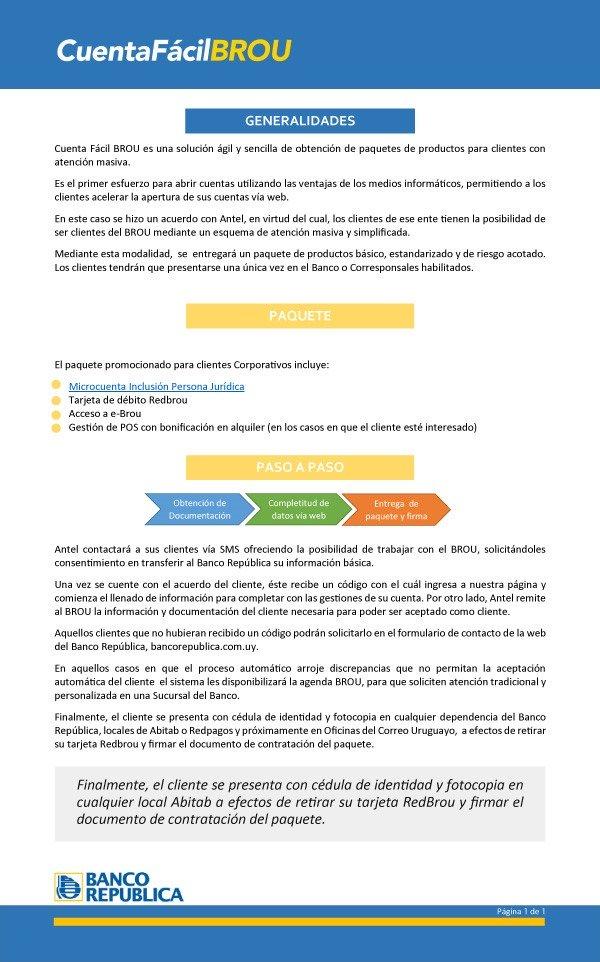 Generalidades Cuenta Fácil BROU